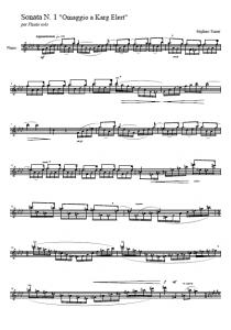 Sonata per flauto N. 1 (trascinato