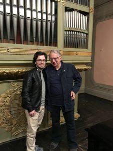 With Maestro Azio Corghi at Accademia Filarmonica di Bologna - 2018