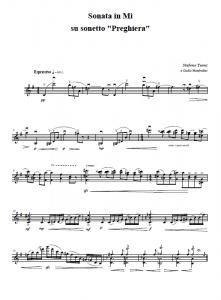 Sonata per Violino - Preghiera