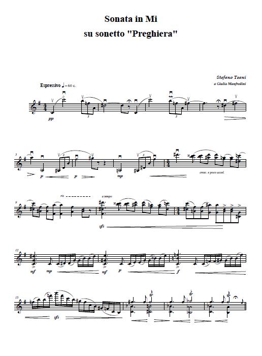 Sonata per Violino - Preghiera (trascinato)